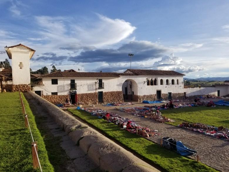 Chinchero's Spanish church and Incan walls