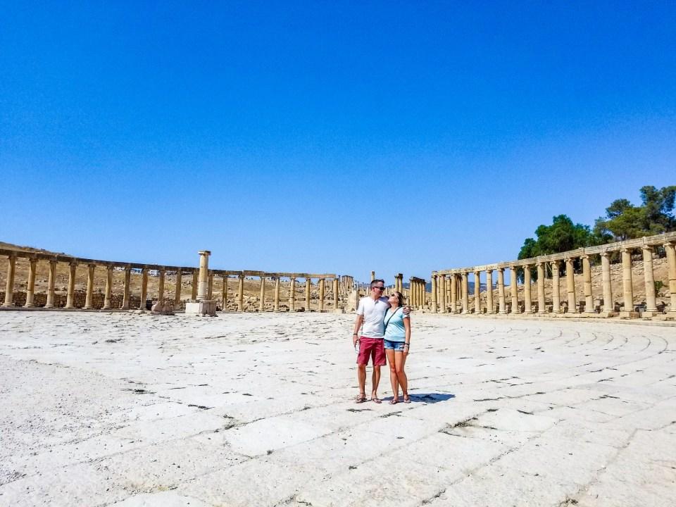 Forum Jerash Ancient Roman Ruins Jordan