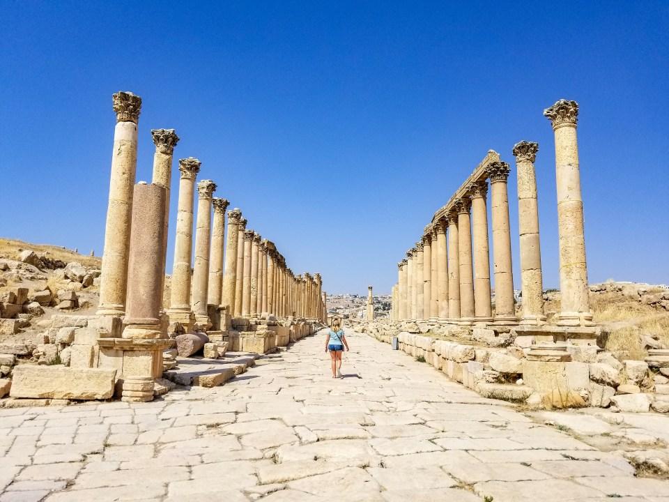 Jerash Ancient Roman Ruins in Jordan