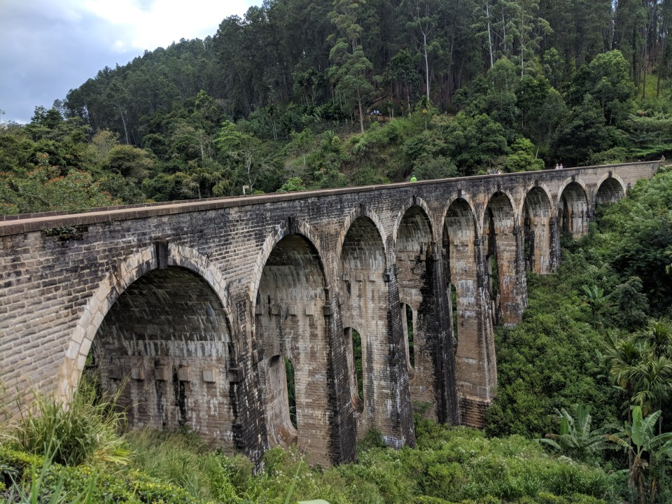 Nine Arches Bridge in ella Sri Lanka