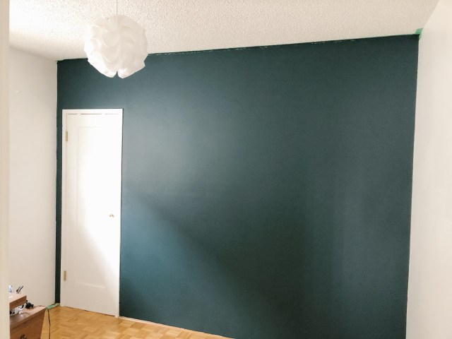green open feature wall
