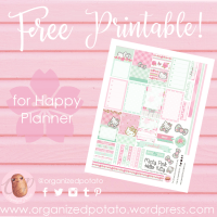 Free Planner Printable: Mint Green & Pink Hello Kitty