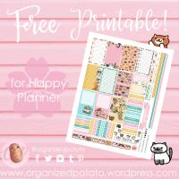 Free Planner Printable: Neko Atsume