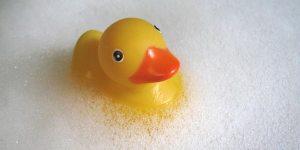 Ducky in bubbles