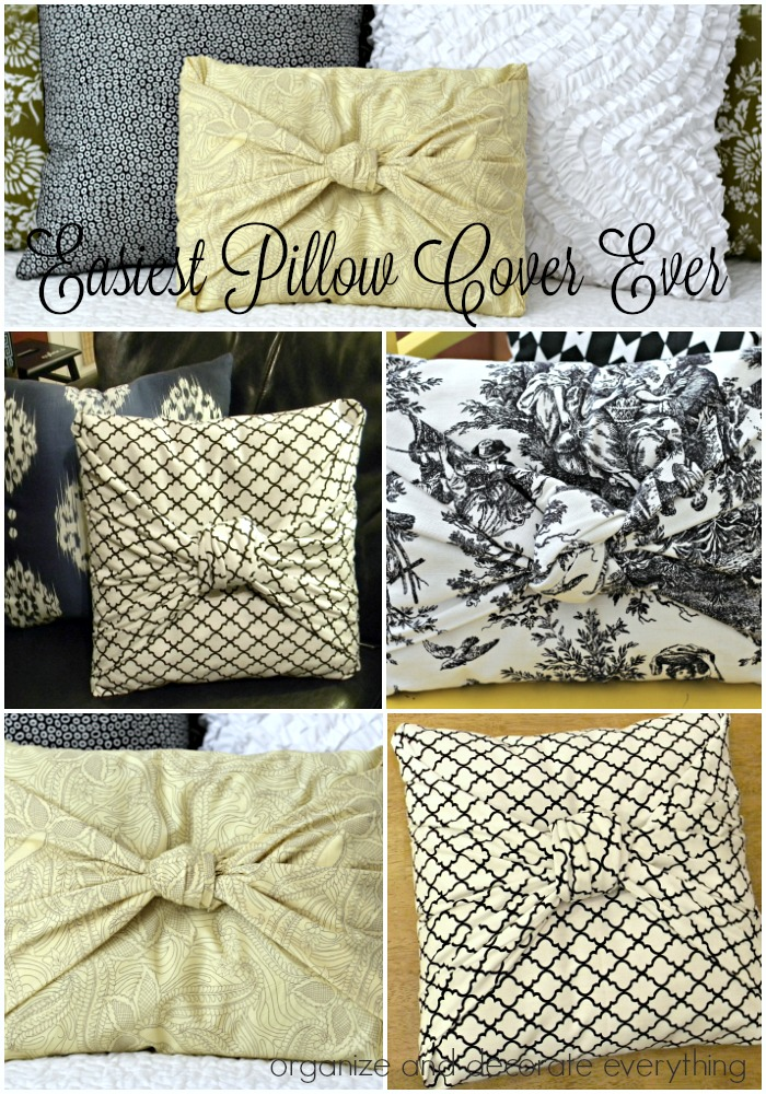 the easiest pillow cover ever