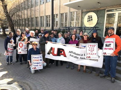Athabasca University Faculty Association picket April 23 2019