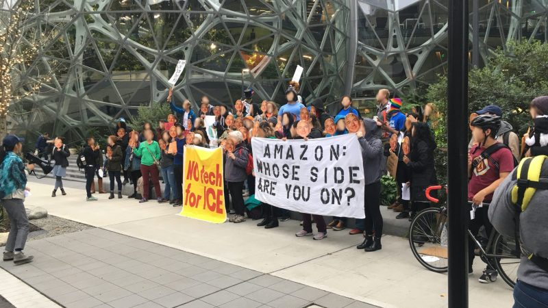 October 2018 protest against Amazon selling facial recognition software to police departments