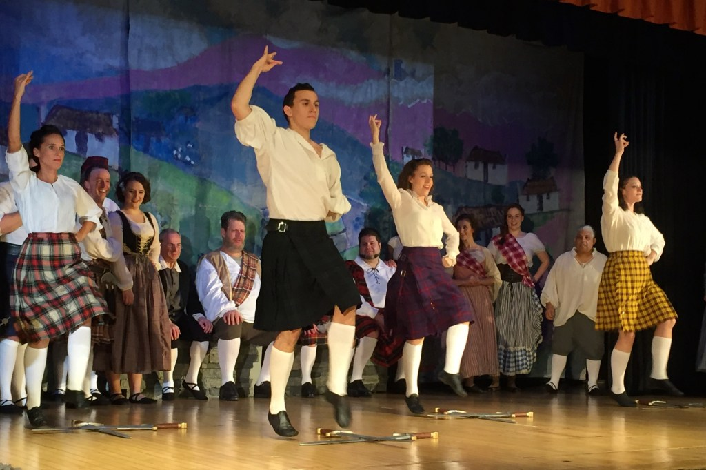 "An action shot taken on an iPhone: the sword dance from ""Brigadoon"""