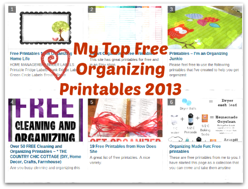 My Top Free Organizing Printables 2013