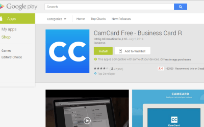 Getting Your Business Cards Organized with CamCard