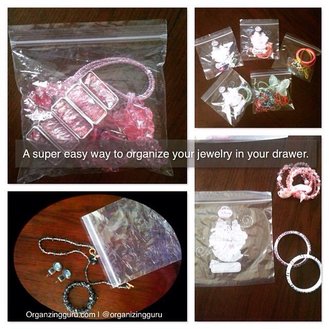 Quick Jewelry Organization