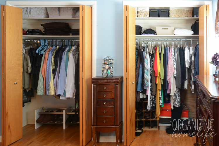 Master Bedroom Closet Disorganization And The Solution