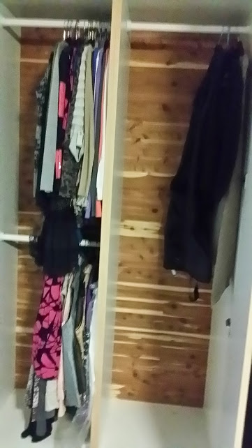 Pairing Down Clothes - off season closet after donations