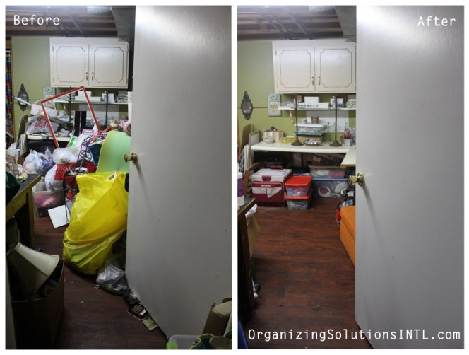 A Craft Room Rediscovered - De-Cluttered Craft Room Before and After