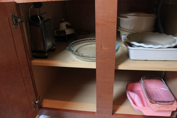 kitchen organize - cabinet without purpose