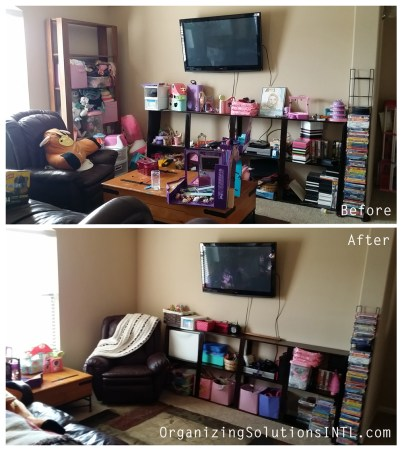 Organizing a Toy Room - Before and After Organized Toy Room