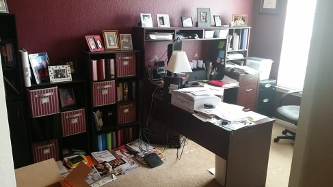 Organizing Paperwork in a Home Office - home office filled with papers