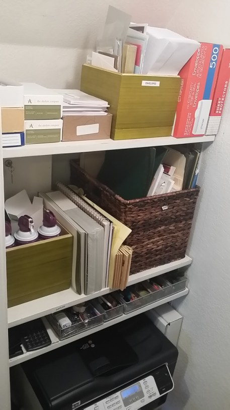 Straightening Up Office Storage - organized office closet