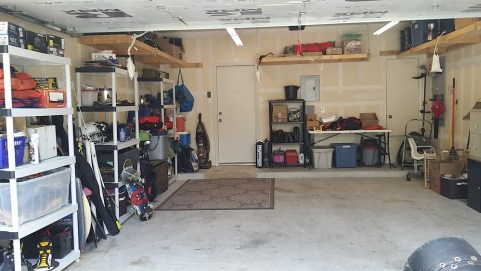 Un-Packing a Catch-All Garage - organized garage left