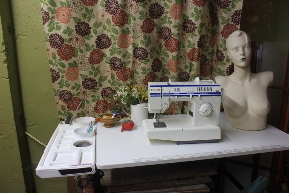 A Craft Room Rediscovered Part 3 - organized sewing table