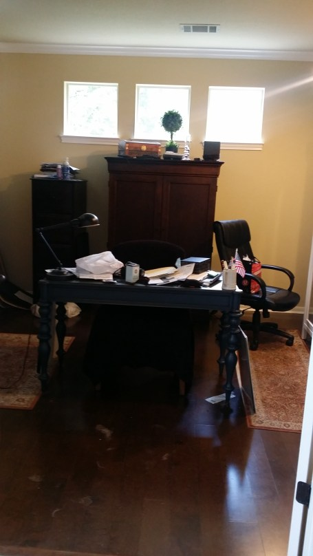 Catch-all Home Office - Cluttered Home Office