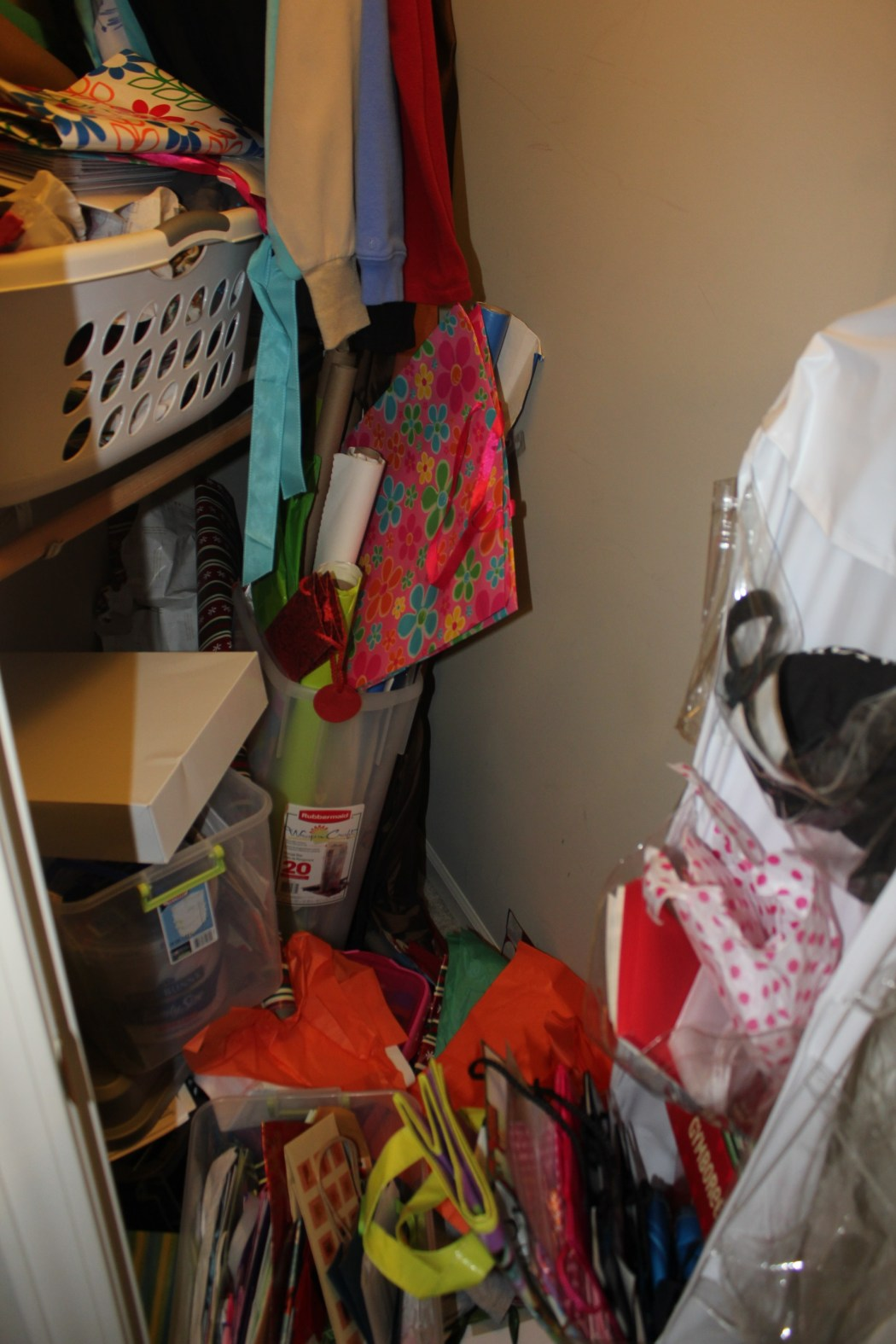 Congested Closet Turned Creative Corner - just inside the door