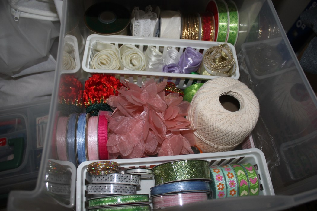 Congested Closet Turned Creative Corner - organized middle craft drawer