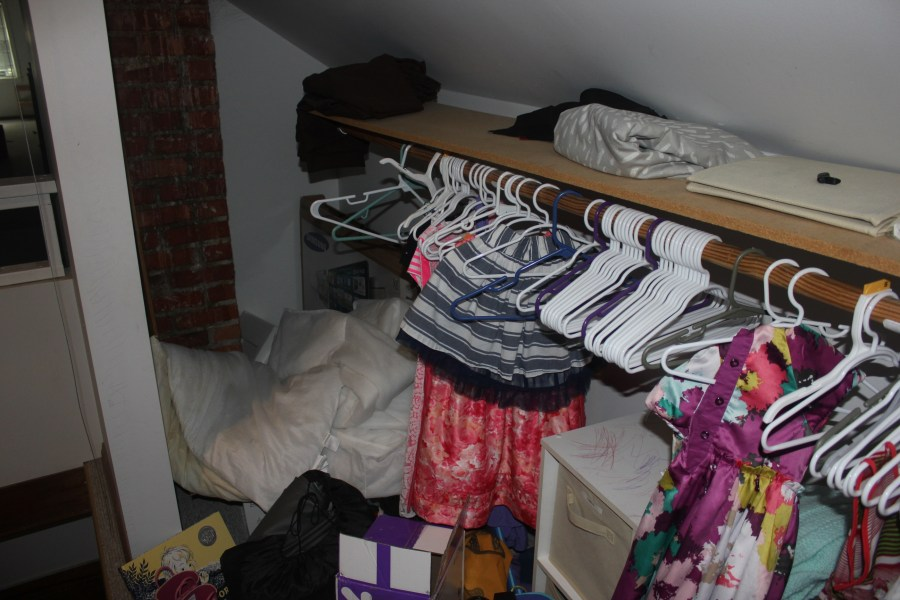 A Closet For Three - messy view to the left