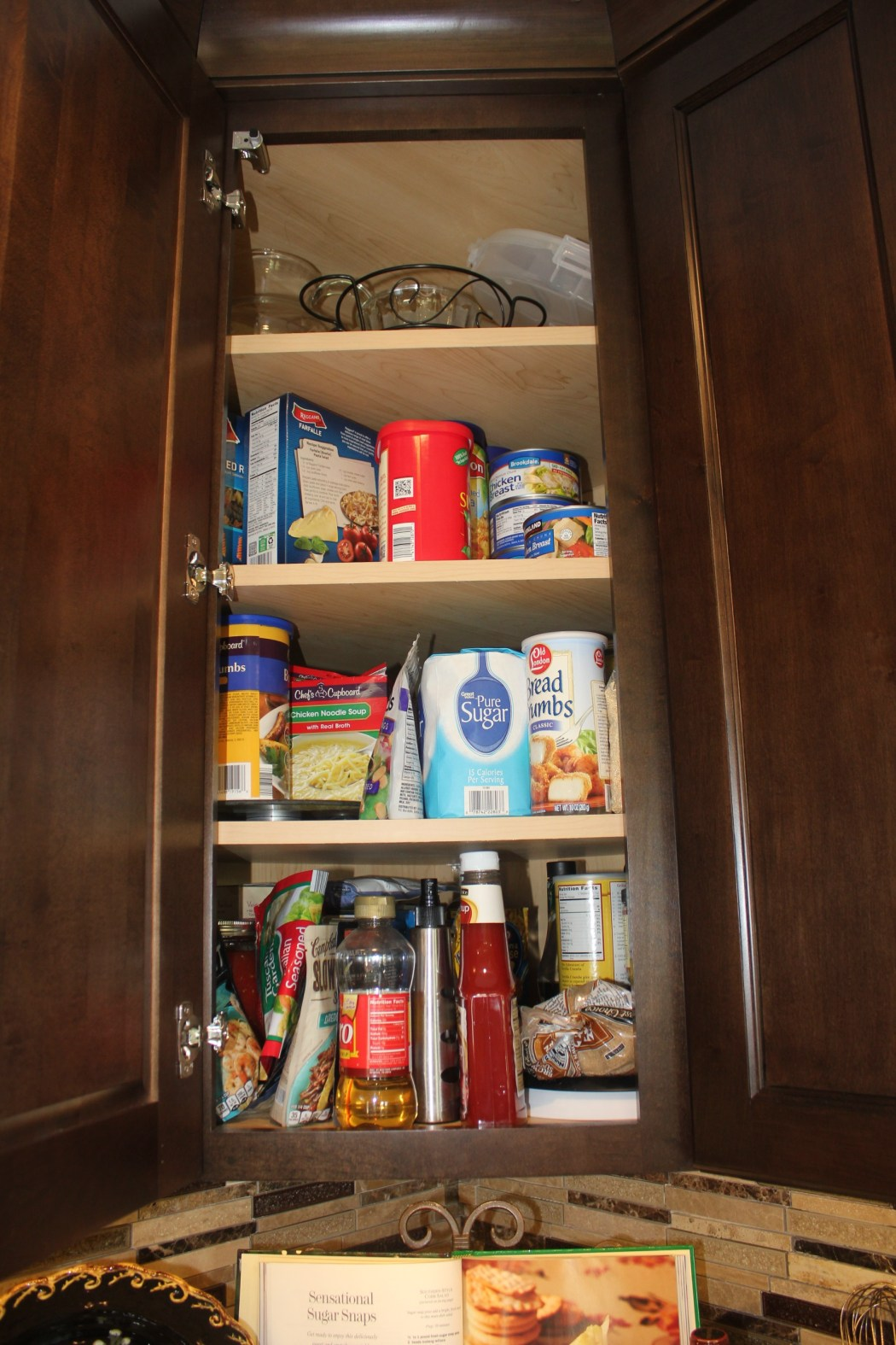 A Maximized Pantry- congested corner cabinet