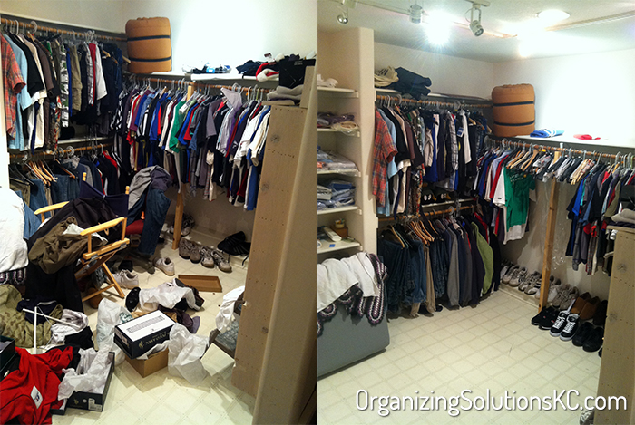 Busy Professional Man's Closet - Before and After