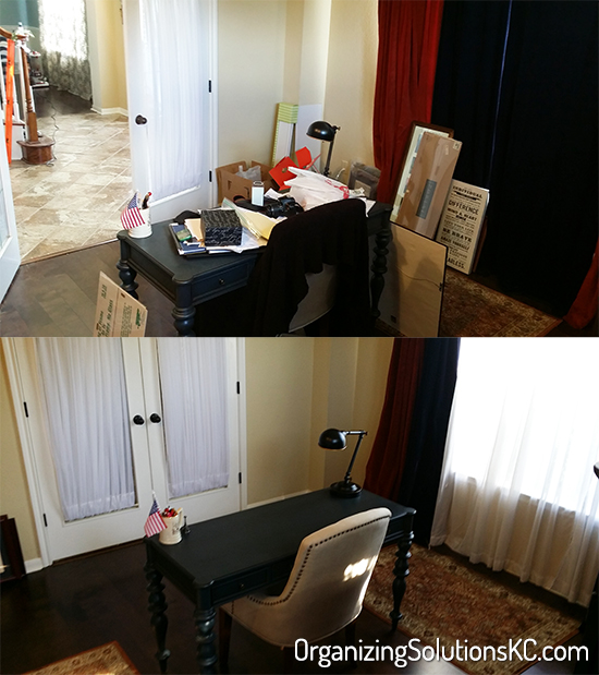 Catch All Home Office - Before and After