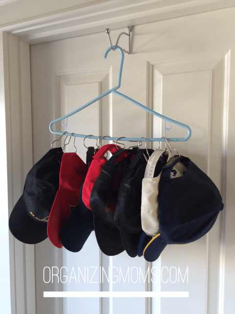How To Organize Your Baseball Hats For A Dollar Organizing Moms