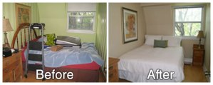 Bedroom Before and After Staging