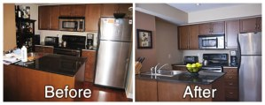 Kitchen Before and After Staging