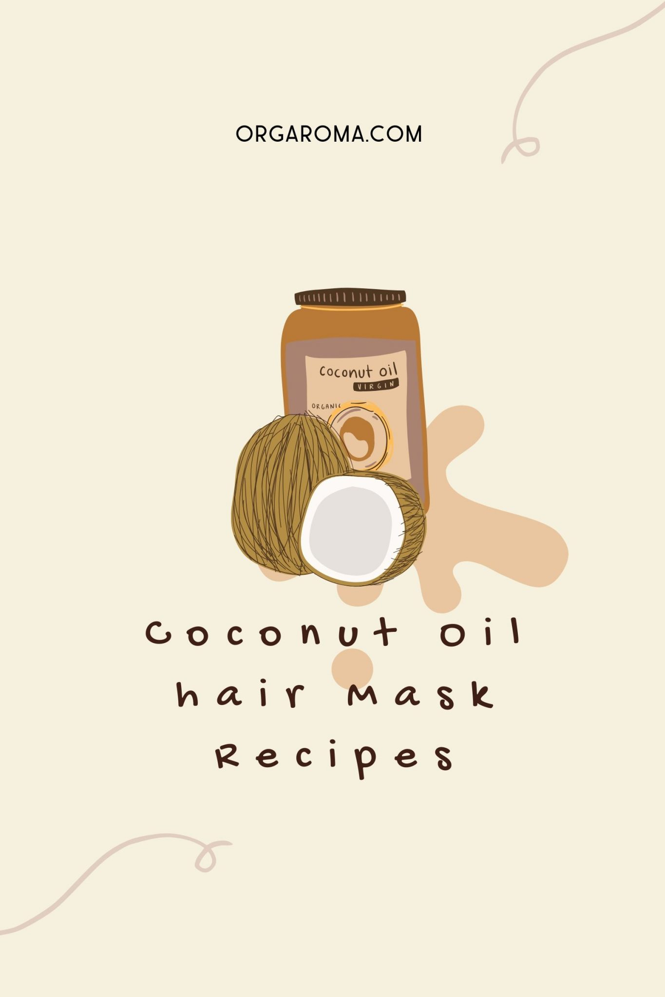 Read more about the article 9 Coconut Oil hair Mask Recipes for the hair in disrepair
