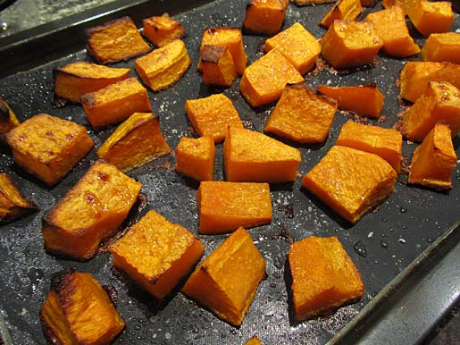 roasted pumpkin or butternut squash