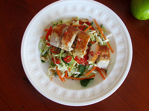how to make Vietnamese chicken and mint salad