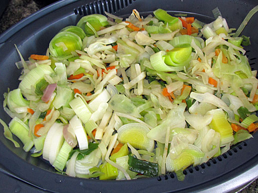 mixed vegetables to go into colcannon croquettes