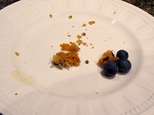blueberry muffin all gone