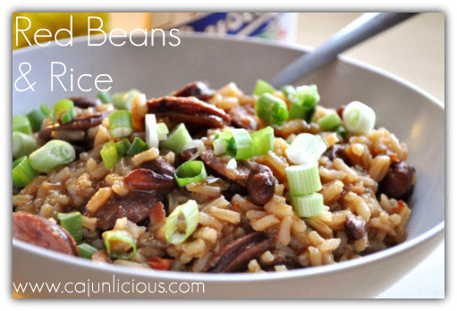 Red Beans and Rice by Cajunlicious.com