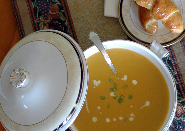 Butternut, Cashew and Ginger Soup