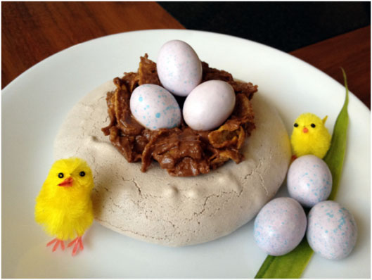Easter Pavlova Nests by Choc Chip Uru at Go Bake Yourself