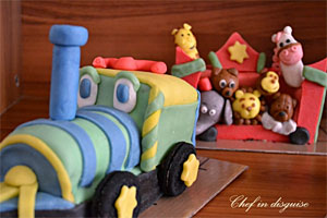 Circus Train Birthday Cake