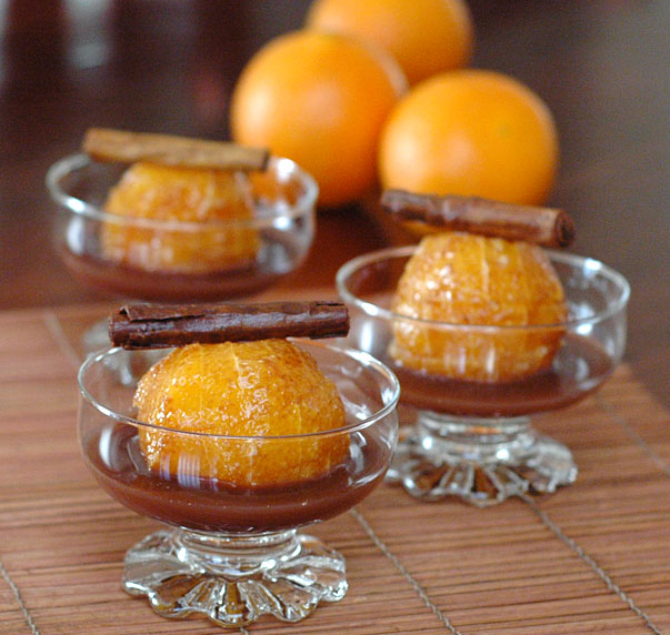 sugar free spiced oranges