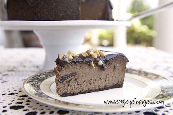 Dark Chocolate Cheesecake with Chocolate Ganache