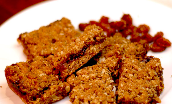 Incaberry and date bars