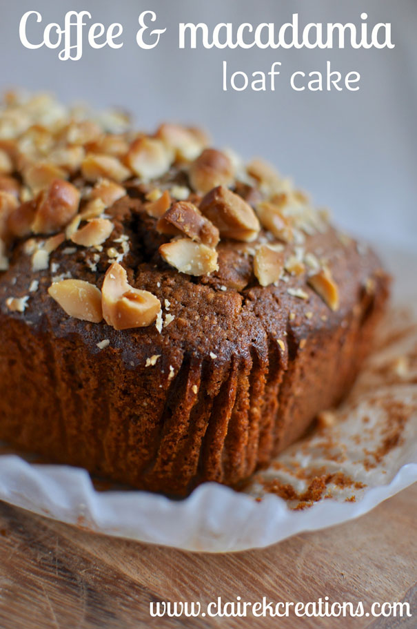 Coffee and Macadamia Nut Loaf Cake