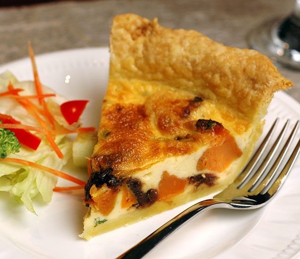 Caramelised Onion and Sweet Potato Quiche
