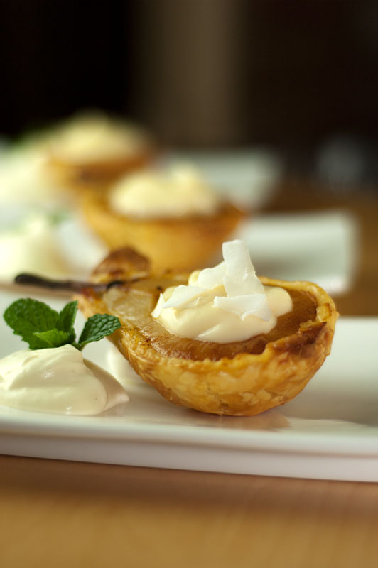 Pears in puff pastry
