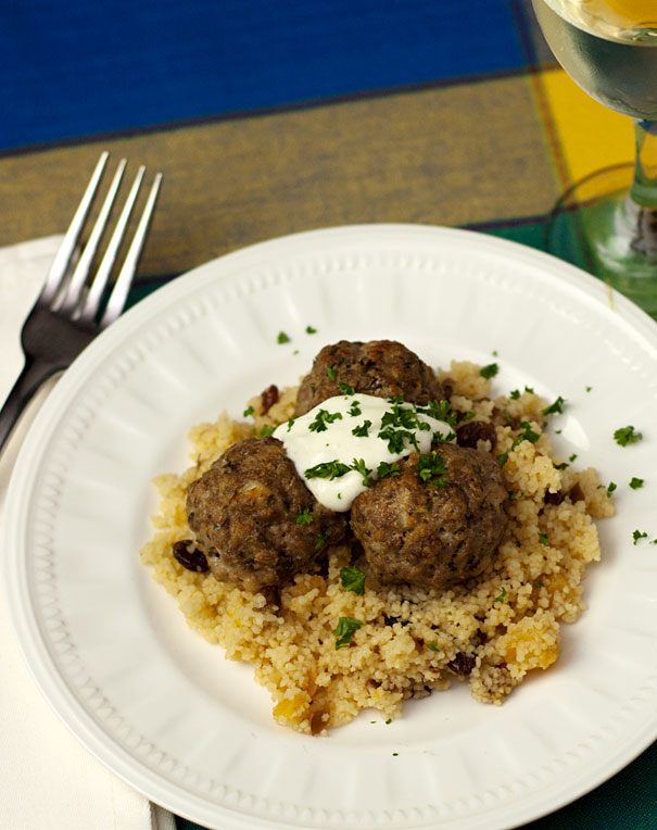 Lamb Meatballs with Fruity Couscous